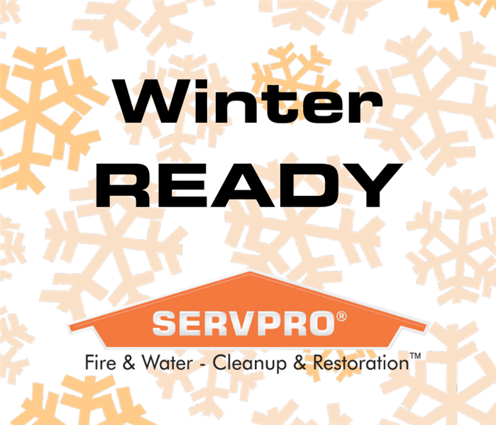 "snow background with ""winter ready"" on the text"