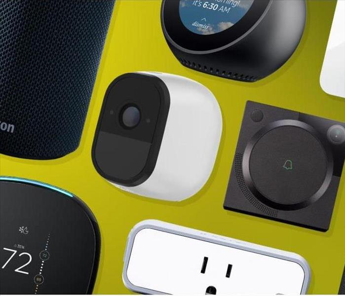 image of several different smart home devices that can aid in the daily life of homeowners